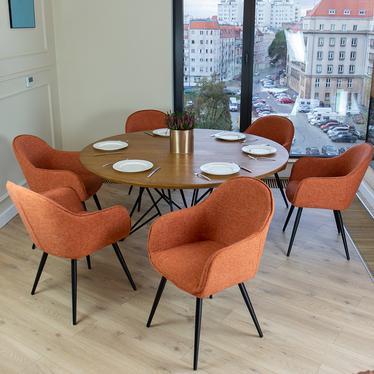 Bill Russet Upholstered Chair