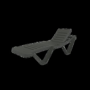 Master Anthracite Deckchair
