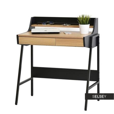 online retailer 8e3b7 70f66 Borr Home Office Desk Black and Oak - Selsey