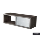 Italia Basalt Floating Shelf with Metal Front