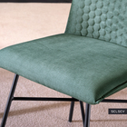 Carlyn Set of 2 Upholstered Chairs Dark Green