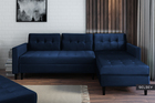 Kopenhaga Navy Blue Corner Sofa with a Pouf